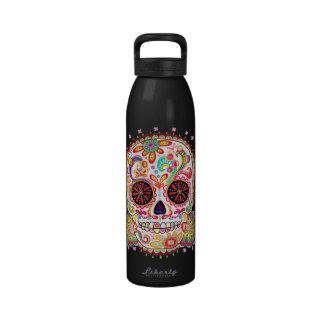 Botella de agua del cráneo del azúcar