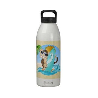 Botella de agua del dibujo animado del mono de la