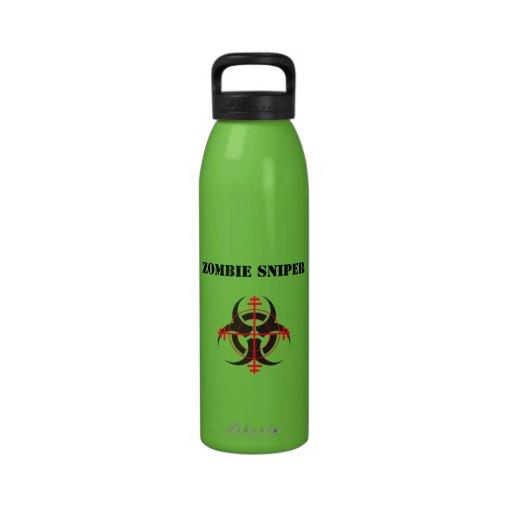 Botella de agua del francotirador del zombi
