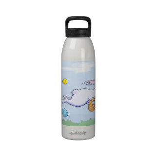 Botella de agua del funcionamiento del conejo de P