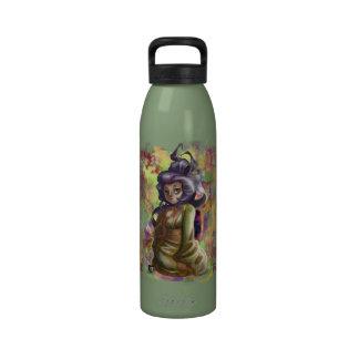 Botella de agua del geisha del té verde