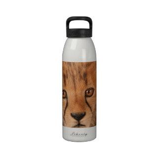Botella de agua del guepardo del bebé
