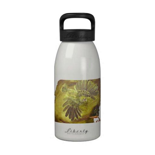 """Botella de agua del """"loro verde agresivo"""""""