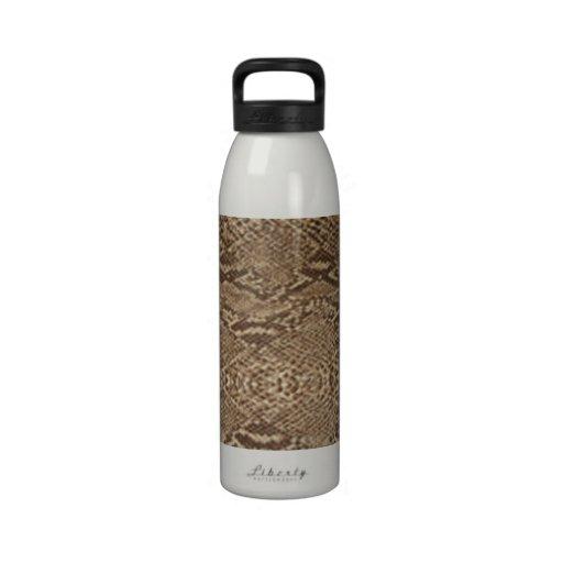 Botella de agua del modelo de la piel de serpiente