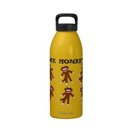 Botella de agua del mono del calcetín