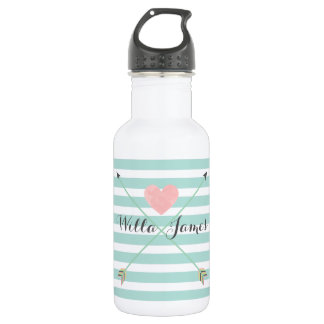 Botella de agua del monograma de la flecha de la