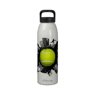 Botella de agua del mundo del tenis