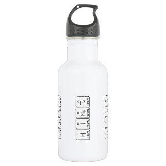 Botella de agua del nombre de la tabla periódica