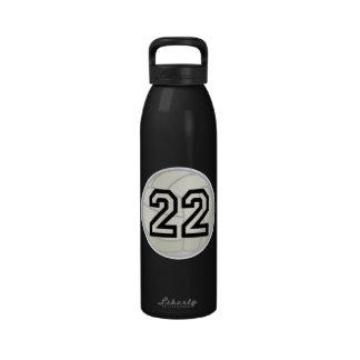 Botella de agua del número 22 del uniforme del jug