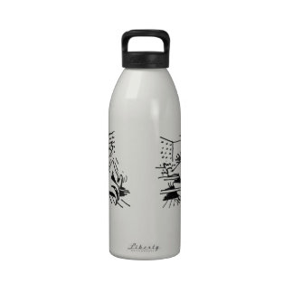 Botella de agua del organista del dibujo animado (