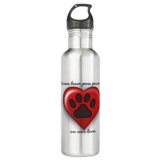 Botella de agua del perro del rescate