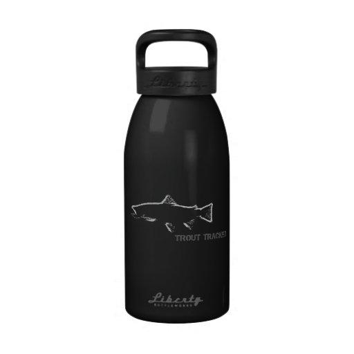 Botella de agua del perseguidor de la trucha