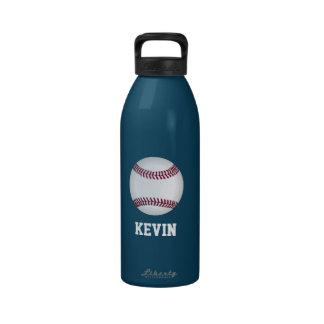 Botella de agua del personalizado del béisbol