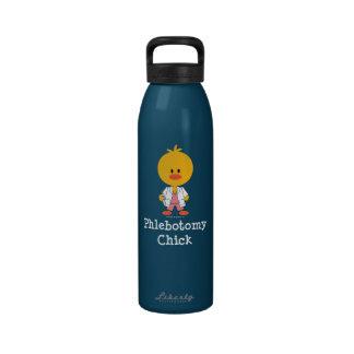 Botella de agua del polluelo de la flebotomía