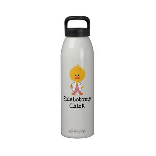 Botella de agua del polluelo de la flebotomía de P
