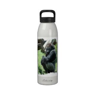 Botella de agua del resplandor del gorila