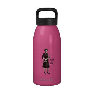 Botella de agua del rosa de la aptitud del gimnasi