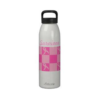 Botella de agua del superviviente del cáncer de pe