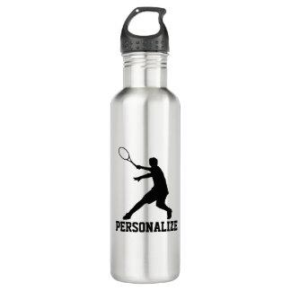 Botella de agua del tenis con nombre personalizado