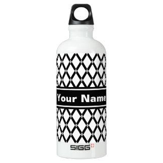 Botella de agua Diamante-Negra blanca de los