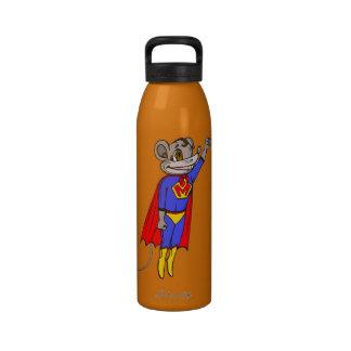 Botella de agua divertida de la libertad del ratón
