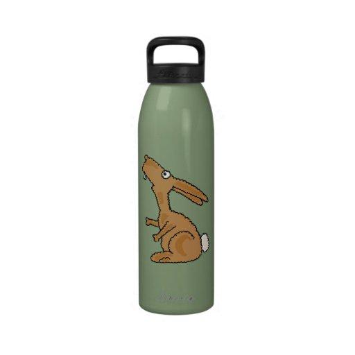 Botella de agua divertida del dibujo animado del c