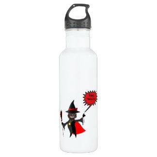 Botella de agua divertida del gatito de Halloween