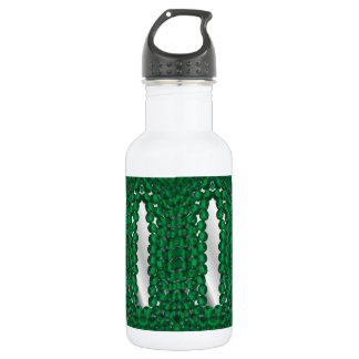 botella de agua encrustada joya, esmeralda,