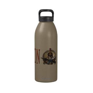 Botella de agua espartano M-4 de Molon Labe