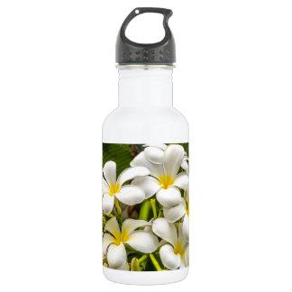 Botella de agua exótica del Plumeria de la isla