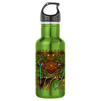 Botella de agua extraña del saltamontes