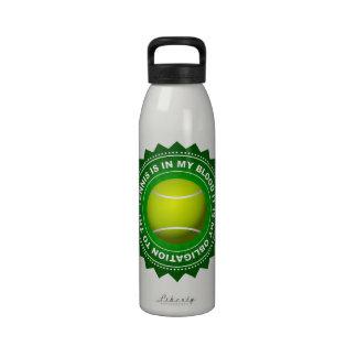 Botella de agua fantástica del tenis