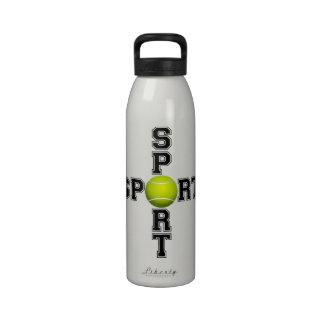Botella de agua fresca de la cruz del tenis del de