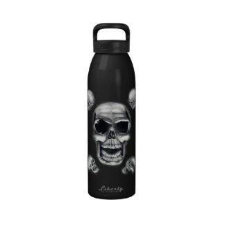 Botella de agua humana de los cráneos