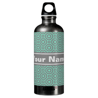 Botella de agua jerarquizada verde y gris del
