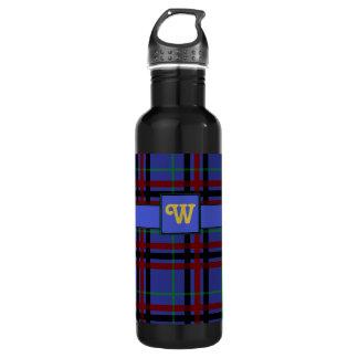 Botella de agua Joya-Entonada de la tela escocesa