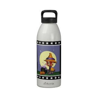 Botella de agua linda de la hidración de la bruja