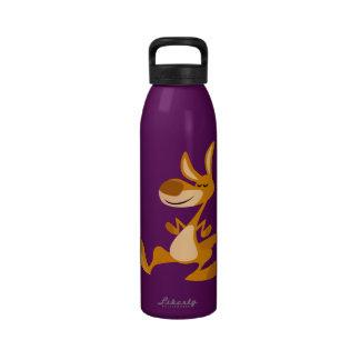 Botella de agua linda del canguro del baile del di