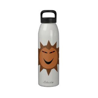 Botella de agua malvada de Halloween del gótico de