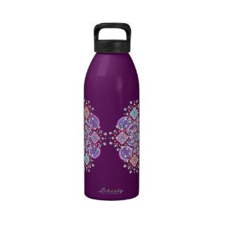 Botella de agua mística de la mandala