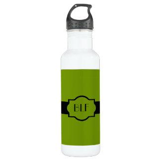 botella de agua, monograma 66