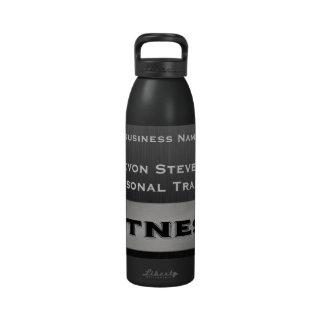 Botella de agua negra 24oz. de la aptitud de la