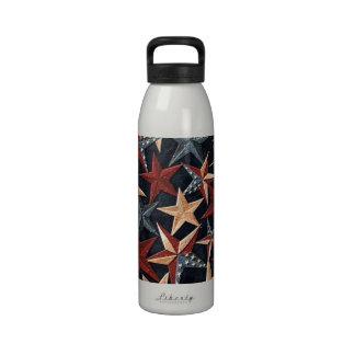 Botella de agua patriótica de la libertad