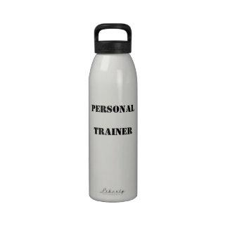 Botella de agua personal del instructor