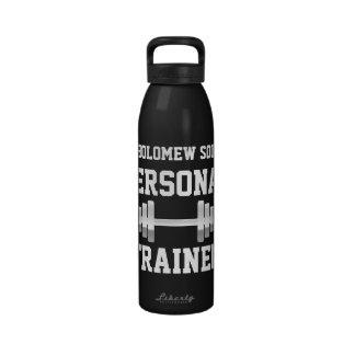 Botella de agua personal del instructor, nombre pe