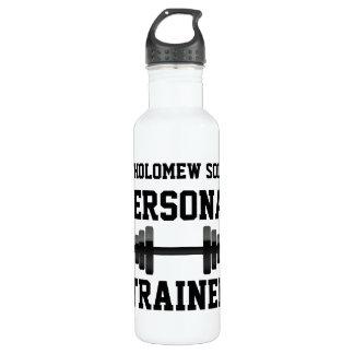 Botella de agua personal del instructor, nombre