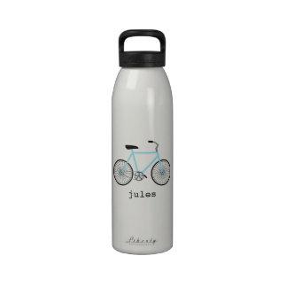 Botella de agua personalizada bicicleta azul azul