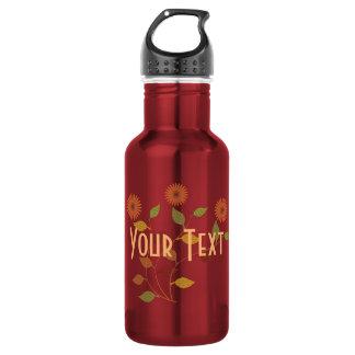 Botella de agua personalizada de la afición del