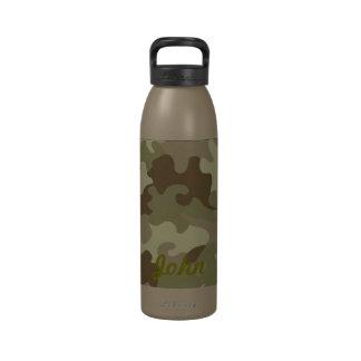 Botella de agua personalizada del camuflaje