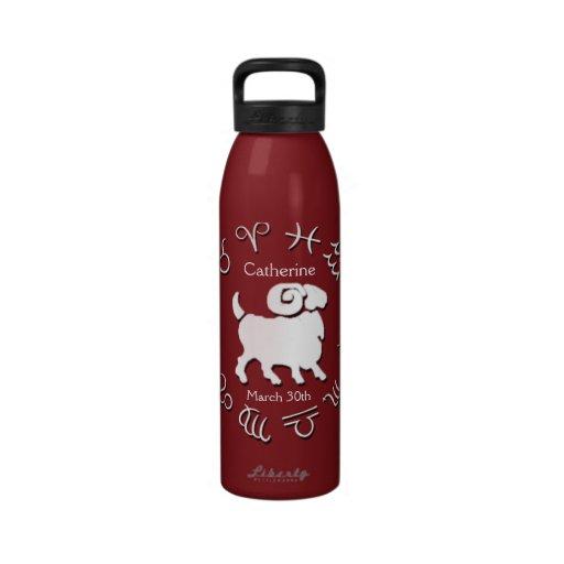 Botella de agua personalizada zodiaco de la libert